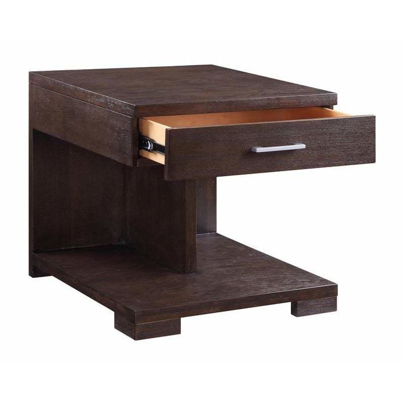 Side & End Tables - Wooden End Table With 1 Drawer, Brown