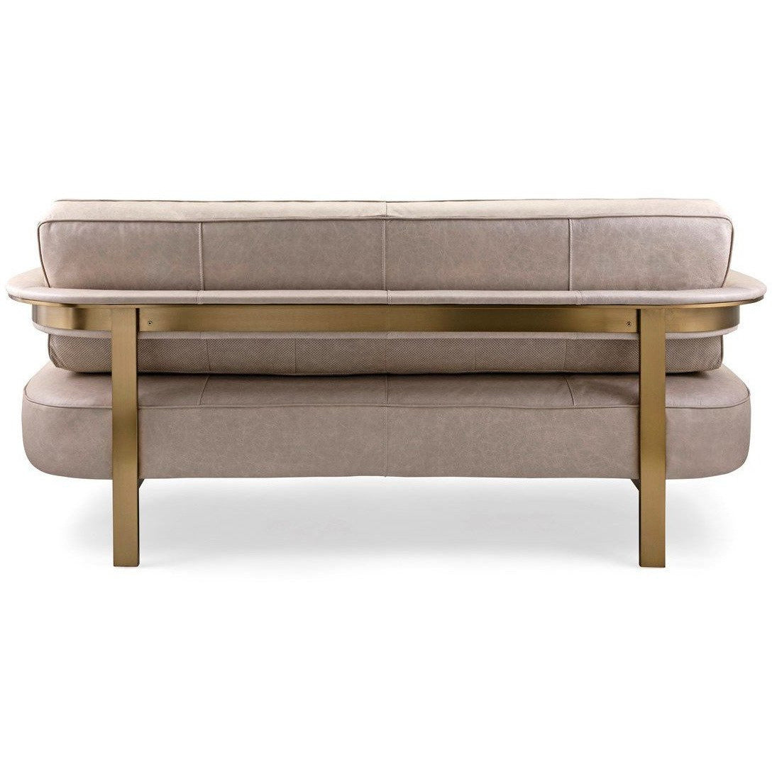 Sofas, Sectionals & Loveseats - NK Aston Top Grain Leather And Stainless Steel Sofa