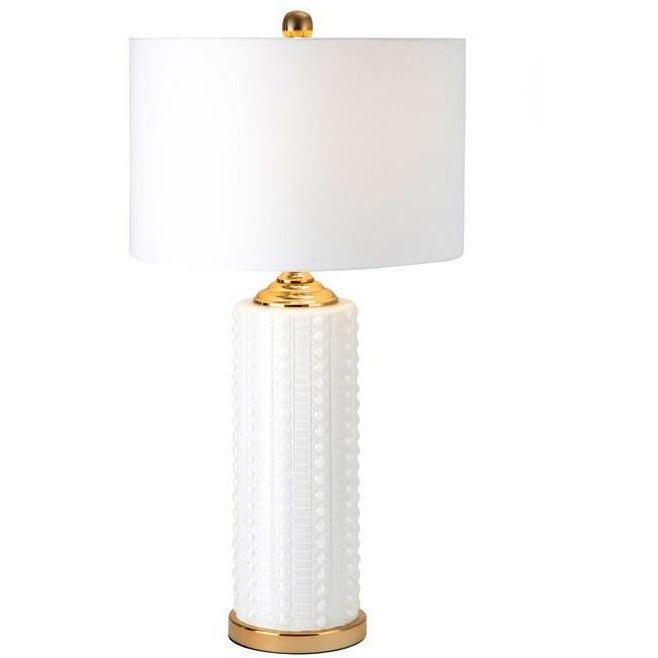 Table Lamps - NK Blanco Glass Table Lamp