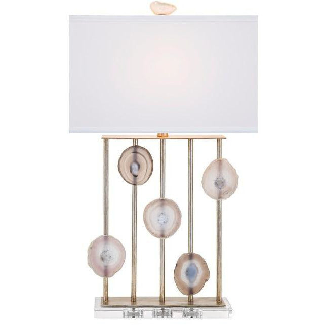 Table Lamps - NK Emery Agate And Crystal Table Lamp