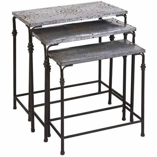 Tables - Gilbert Galvanized Nesting Tables - Set Of 3