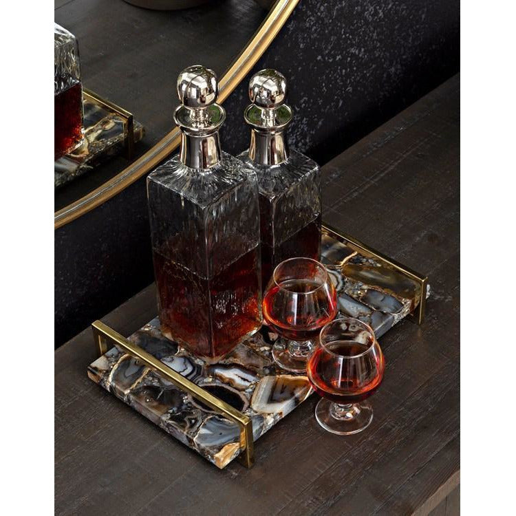 Trays - NK Black Agate Decorative Tray