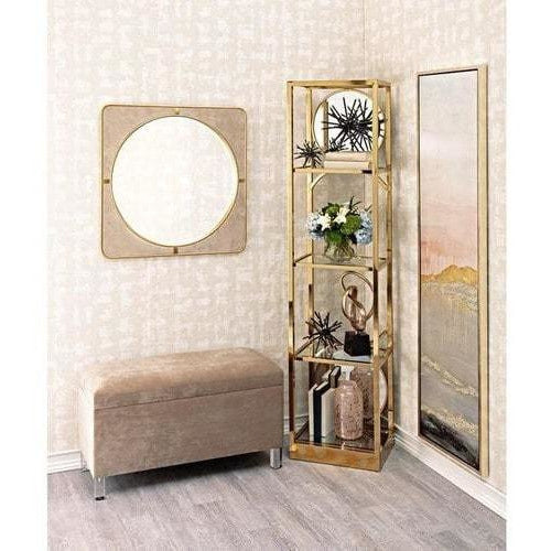 Wall Mirrors - SG Suede Wall Mirror