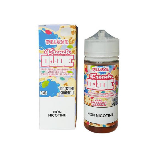 Deluxe French Dude 0mg 100ml Shortfill (80VG-20PG) - www.vapein.co.uk
