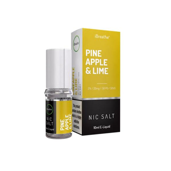 20mg iBreathe 10ml Nic Salt (50VG/50PG) - www.vapein.co.uk
