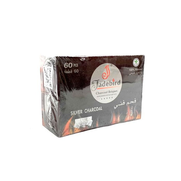 JadeBird Shisha Hookah Silver Charcoal (60 pieces) - www.vapein.co.uk