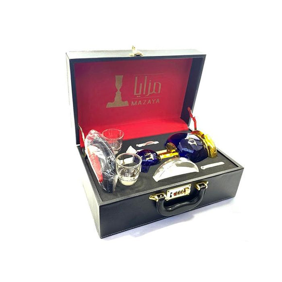 Mazaya Portable Glass Hookah In Suitcase - NO.1 SY1 - www.vapein.co.uk