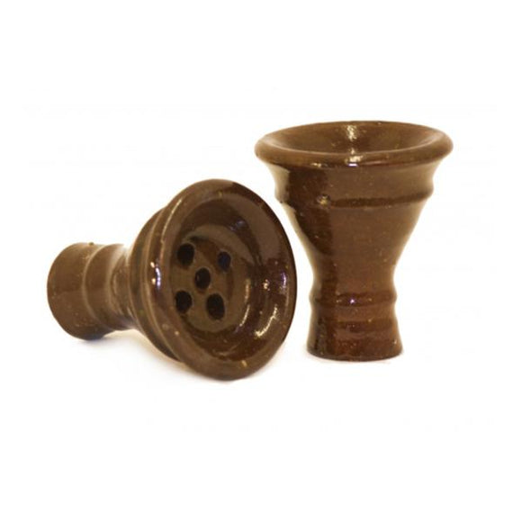 Khalil Maamoon Medium Clay Funnel Head Shisha Bowl - www.vapein.co.uk