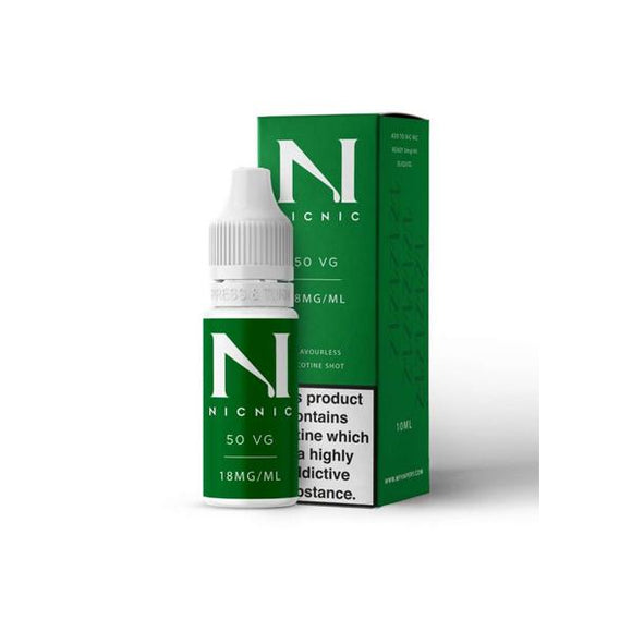 18mg Nic Nic Flavourless Nicotine Shot 10ml 50VG - www.vapein.co.uk