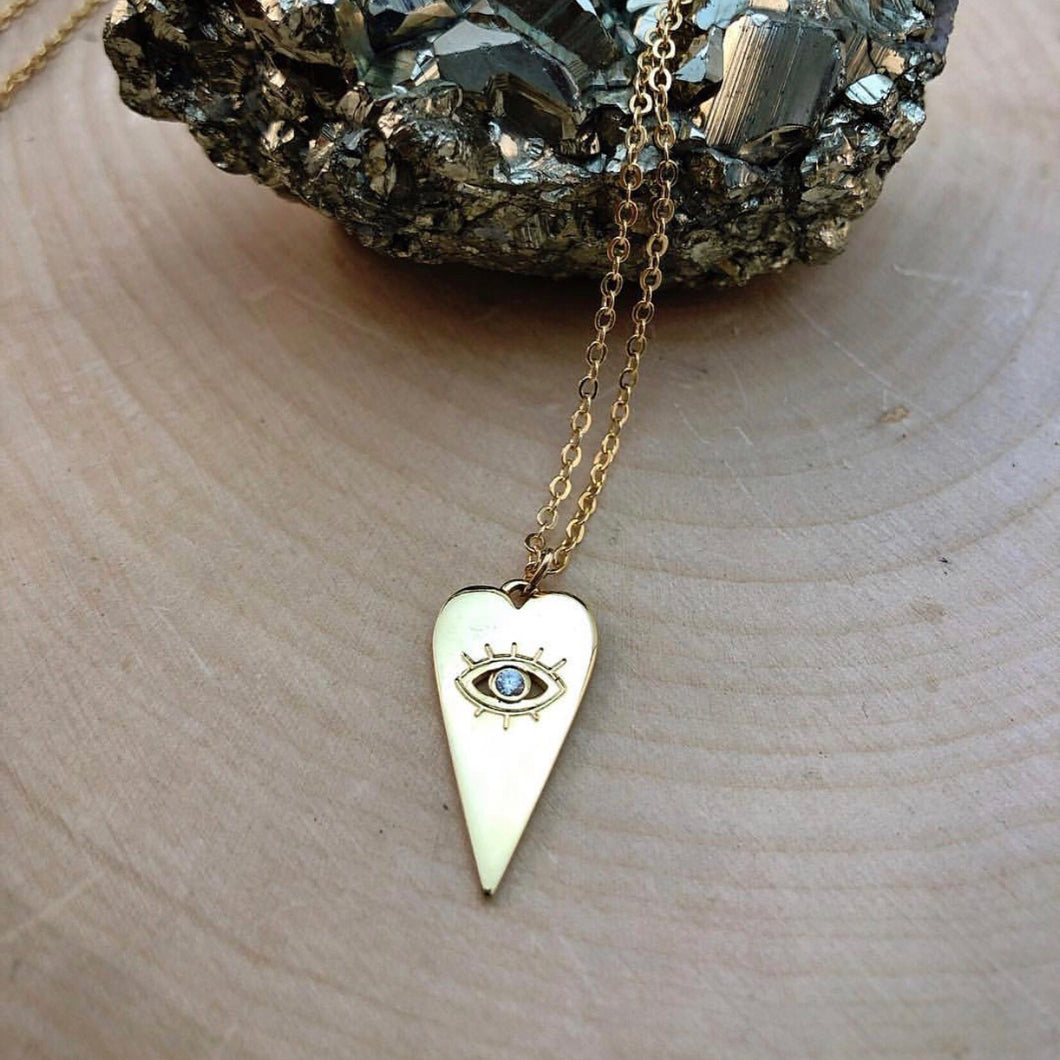 EYE HEART GOLD | NECKLACE