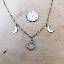 Load image into Gallery viewer, TRIPLE MOON GODDESS | NECKLACE