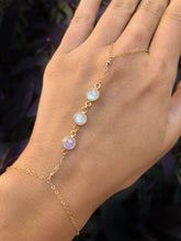 Load image into Gallery viewer, MOON GODDESS | RAINBOW MOONSTONE | HAND CHAIN