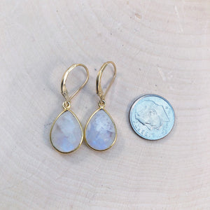 high quality rainbow moonstone earrings
