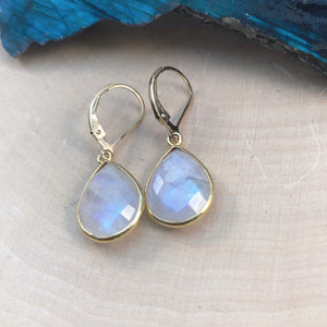 rainbow moonstone huggies