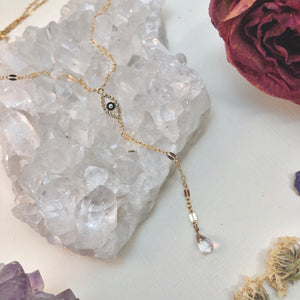 EYE LOVE YOU | LARIAT NECKLACE