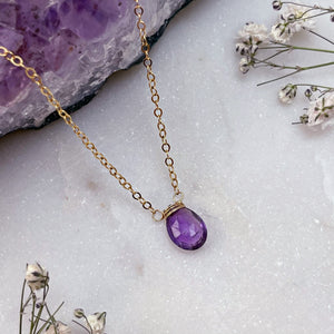 MINIMAL AMETHYST | NECKLACE
