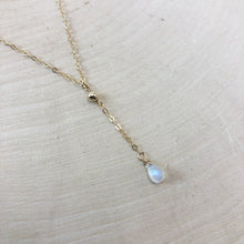 Load image into Gallery viewer, TINY MOONSTONE | LARIAT NECKLACE