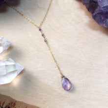 Load image into Gallery viewer, AMETHYST MAGIC | LARIAT NECKLACE