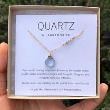 Load image into Gallery viewer, TANZANITE QUARTZ | NECKLACE