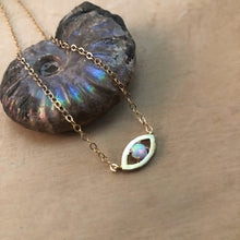 Load image into Gallery viewer, OPAL EVIL EYE | CHOKER NECKLACE