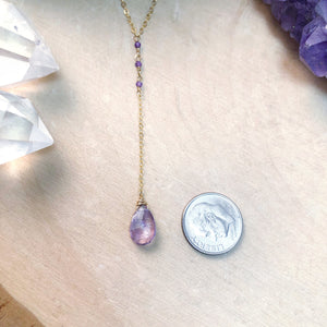 AMETHYST MAGIC | LARIAT NECKLACE