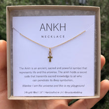 Load image into Gallery viewer, DAINTY ANKH | NECKLACE