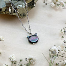 Load image into Gallery viewer, PEARLY BLACK CAT | NECKLACE
