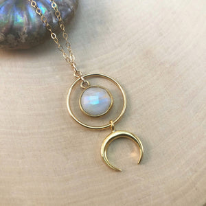 SOLAR ECLIPSE MOONSTONE | NECKLACE