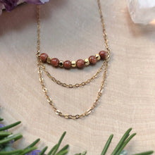 Load image into Gallery viewer, GOLDSTONE CHANDELIER | NECKLACE