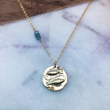 Load image into Gallery viewer, Pisces zodiac necklace