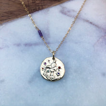Load image into Gallery viewer, Aquarius zodiac pendant necklace