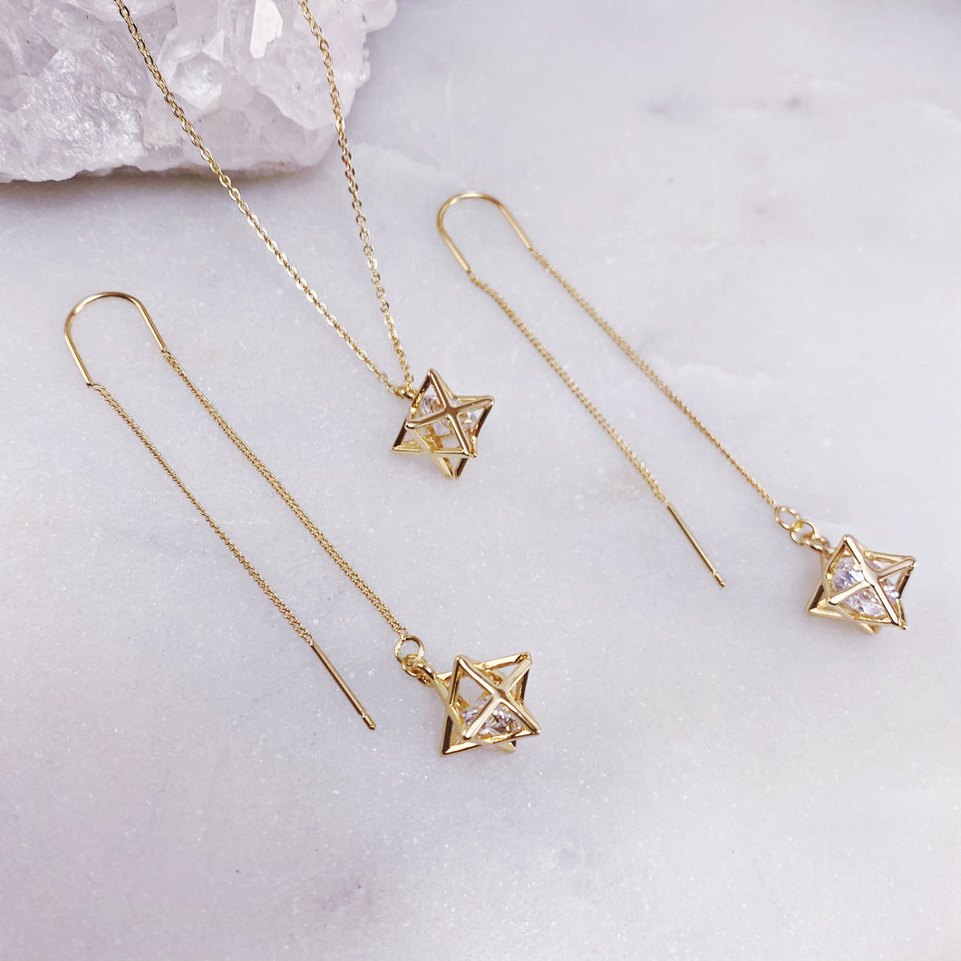 MERKABA | NECKLACE + EARRING SET