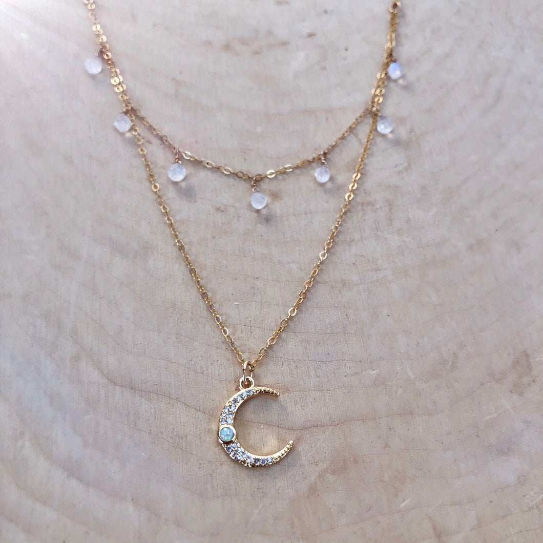 MOON GODDESS | LAYERED NECKLACE