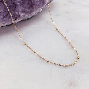 GOLD SATELLITE | NECKLACE