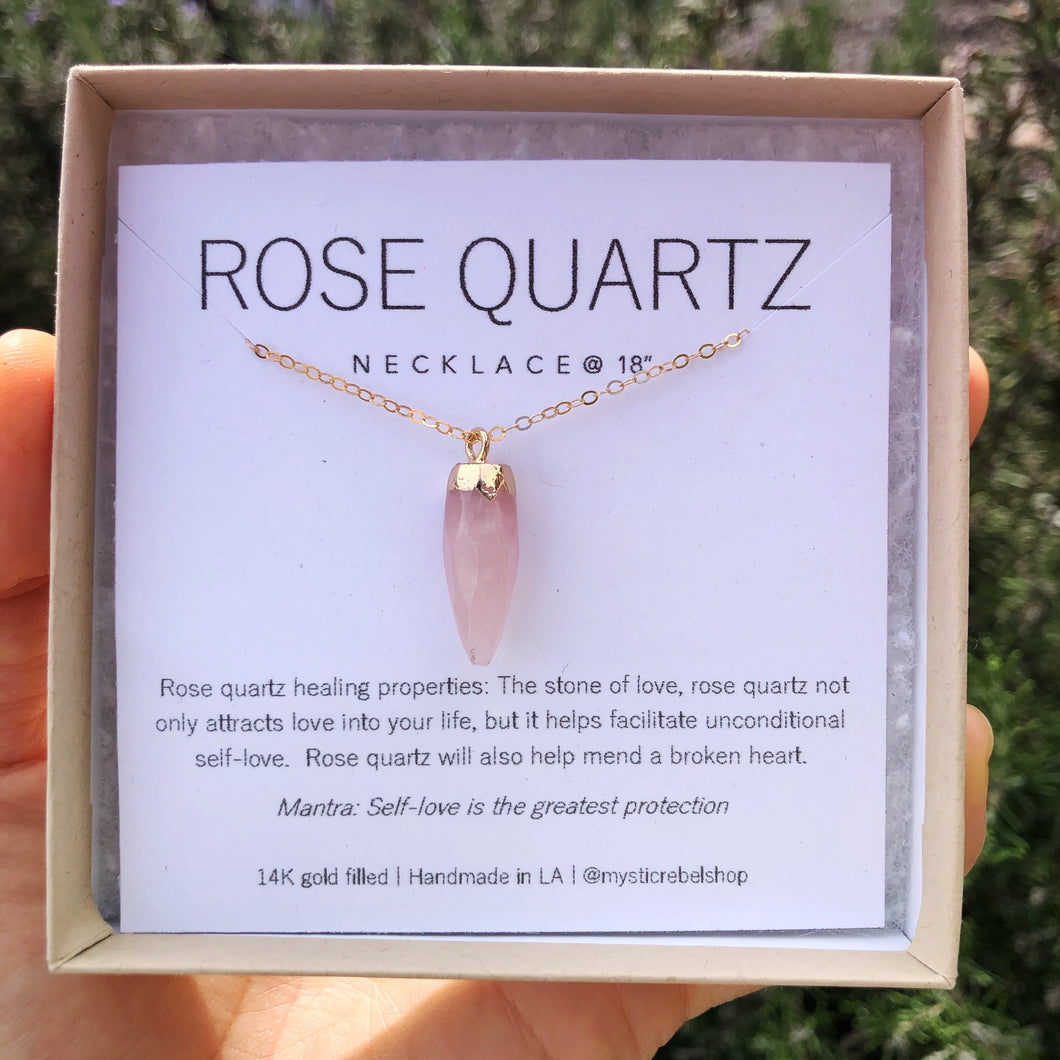THE ROSE QUARTZ | NECKLACE