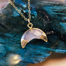 Load image into Gallery viewer, ROSE QUARTZ MOON | NECKLACE