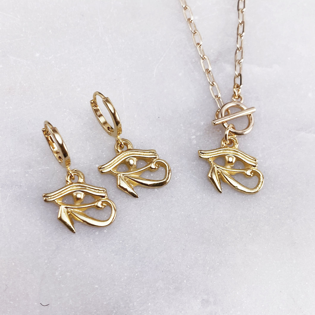 EYE OF HORUS | NECKLACE + EARRING SET
