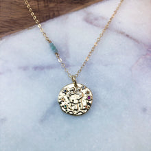 Load image into Gallery viewer, Gemini zodiac pendant necklace