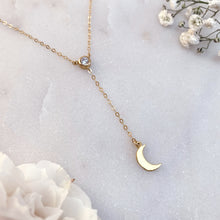 Load image into Gallery viewer, CRESCENT MOON | LARIAT NECKLACE