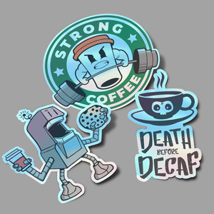 Coffee Holographic Sticker Pack