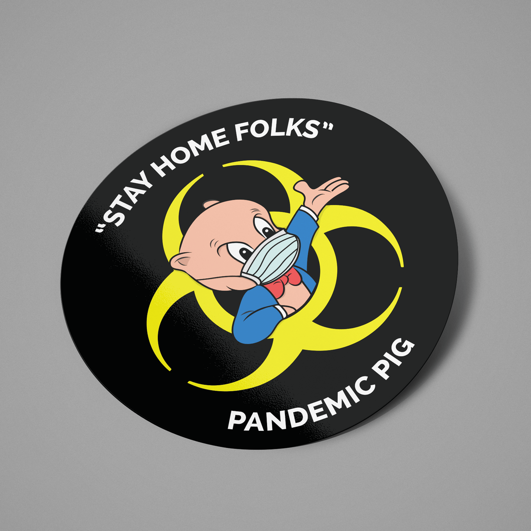 Pandemic Pig Stickers (5 Pack)