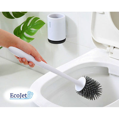 EcoBrush - Wall-Mounted Silicone Toilet Cleaning Brush (Gray)