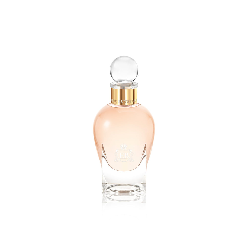 100 ml bottle, with transparent glass and orangey perfum. Spherical cap with gold band. Regal Tuberose, a fragrance by Eric Butherbaugh.