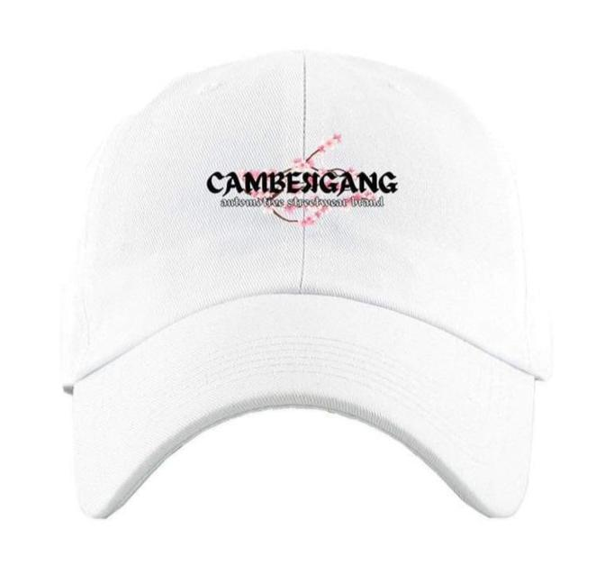 "White ""Sakura"" Dad Hat"