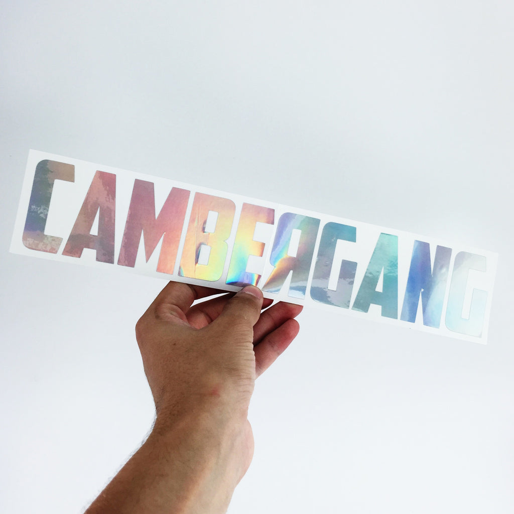 "CamberGang Decal - 15"" x 3"""
