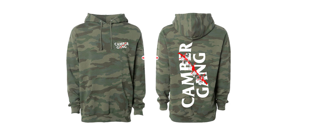 """Roses On The Wire"" Forest Camo Pullover Hoodie"