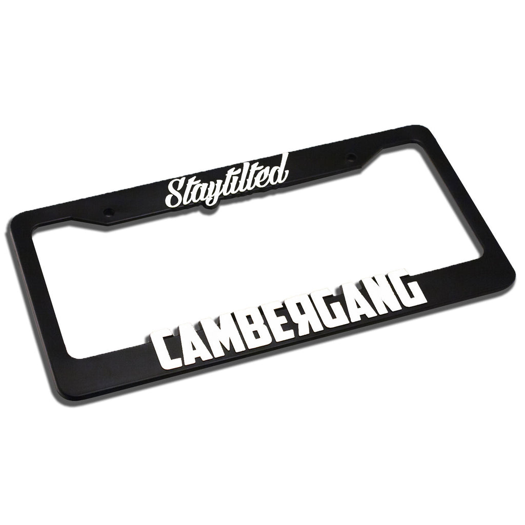 Classic White License Plate Frame