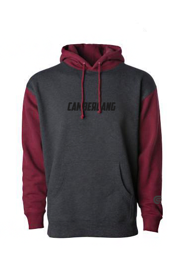 "CamberGang - ""Everyday"" Grey Heather/Maroon Pullover Hoodie"