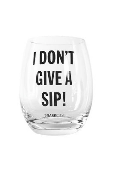 I Don't Give A... Wine Glass