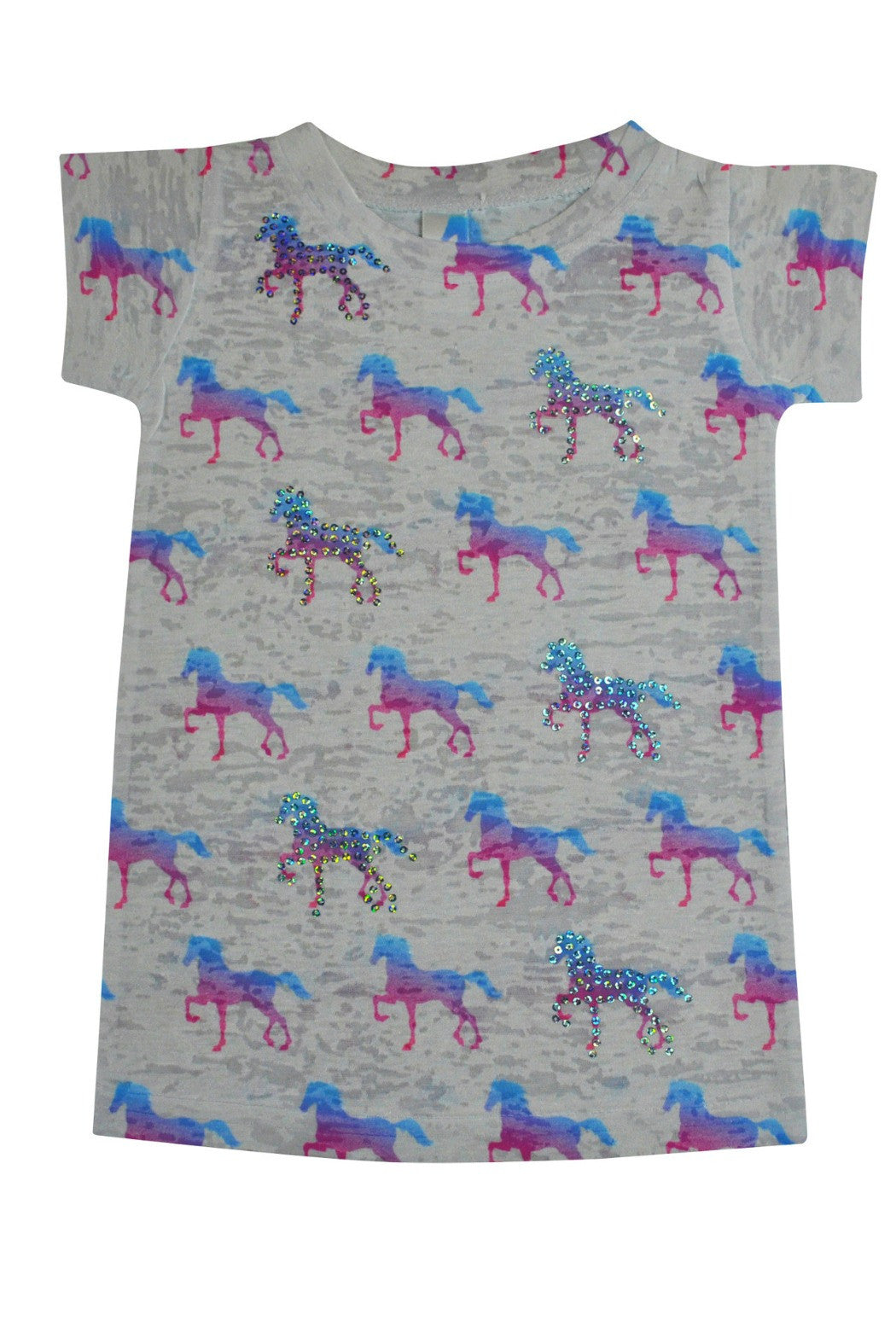 Ponies Long Sleeve Tee - R+D Hipster Emporium | Womens & Mens Clothing